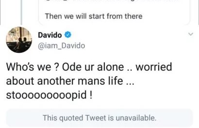 Davido Slams Troll Over NYSC Comment