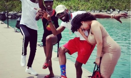 See The Pose By 2Face, D'banj And Their Wives That Has Got People Talking (Photo)