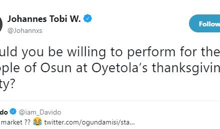See How Presidency Mocked Davido Over Oyetola's Victory In Osun Rerun