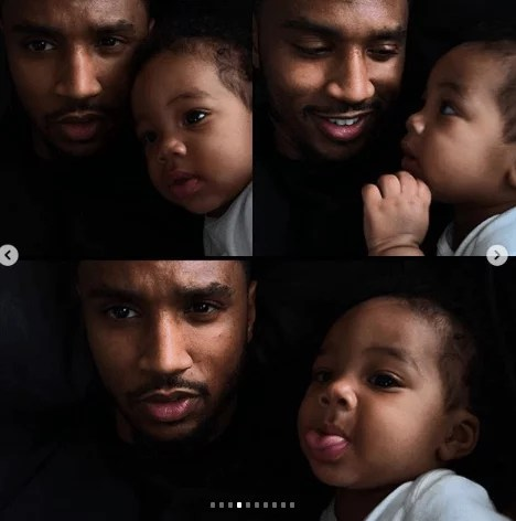 Sweetloaded 5dad67f9eb852 Trey Songz shares adorable new photos with his son as he turns 6 months old gist  Treyz share adorable photos