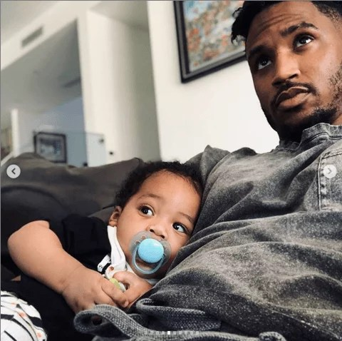 Sweetloaded 5dad6864a2125 Trey Songz shares adorable new photos with his son as he turns 6 months old gist  Treyz share adorable photos
