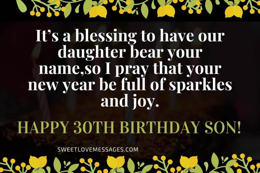 Birthday Wishes For Son In Law Turning 30 In 2021 Sweet Love Messages