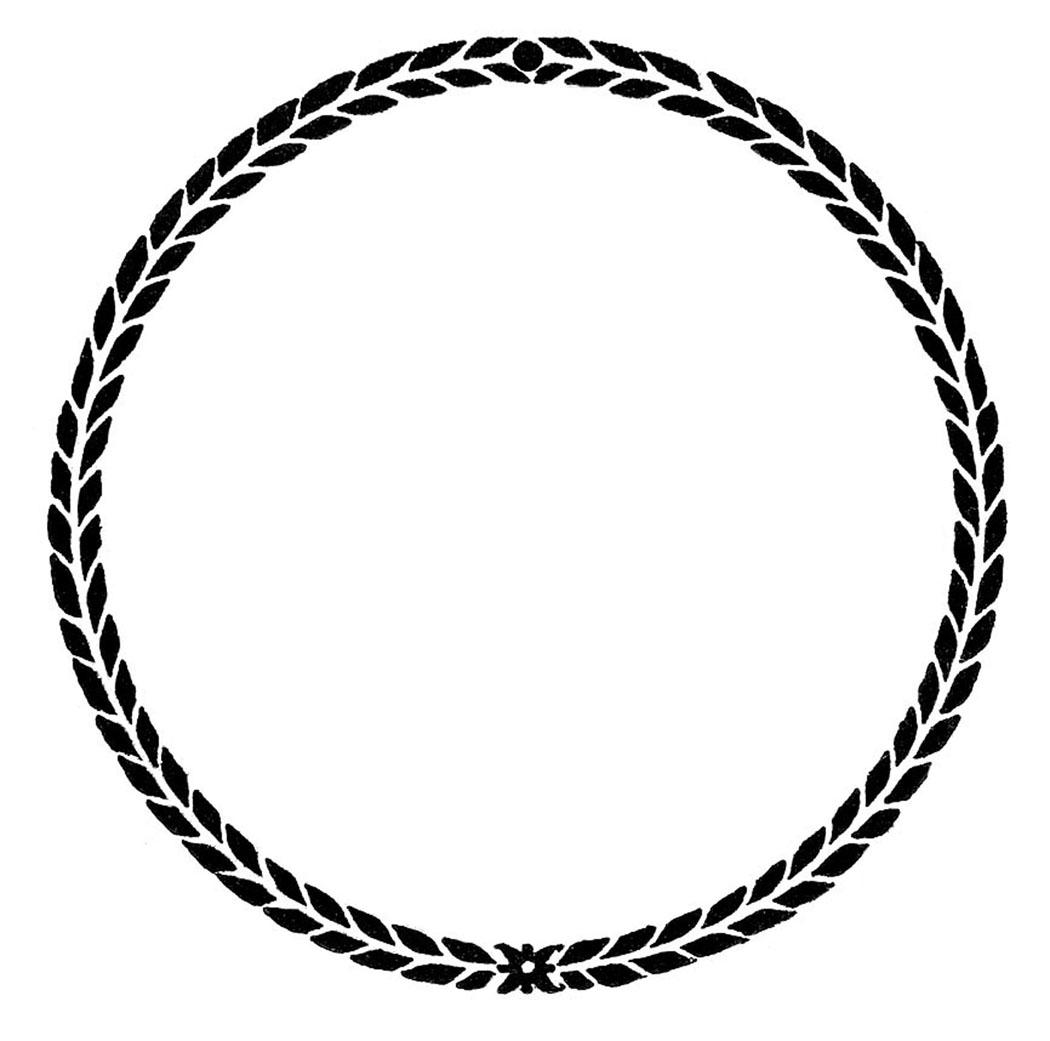 Blank Vintage Circle Logo