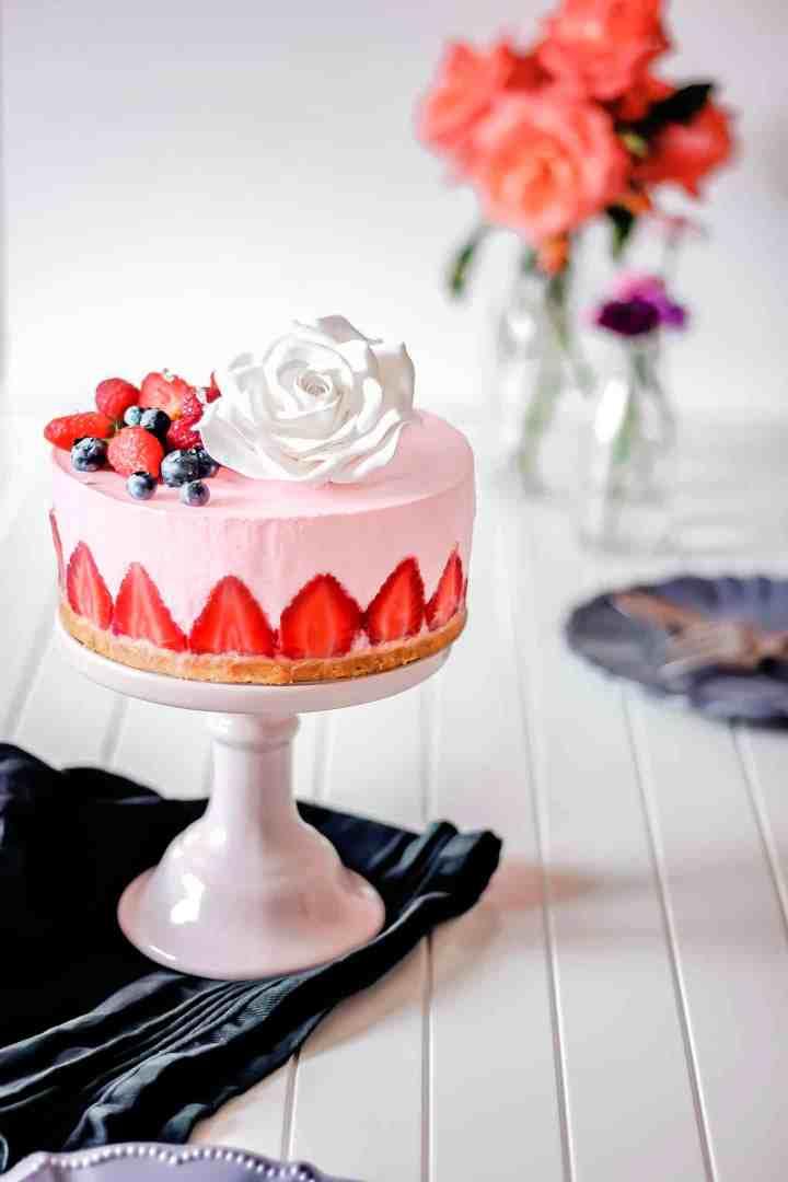 Dessert cheesecake aux fraises