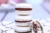 macarons sésame et ganache au chocolat