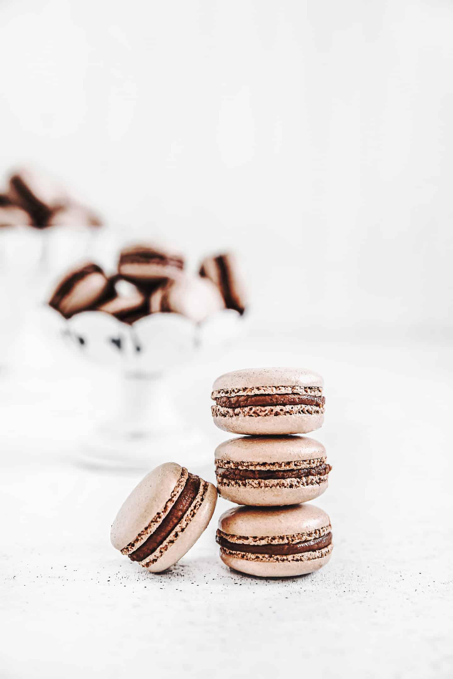 Macarons chocolat au lait facile