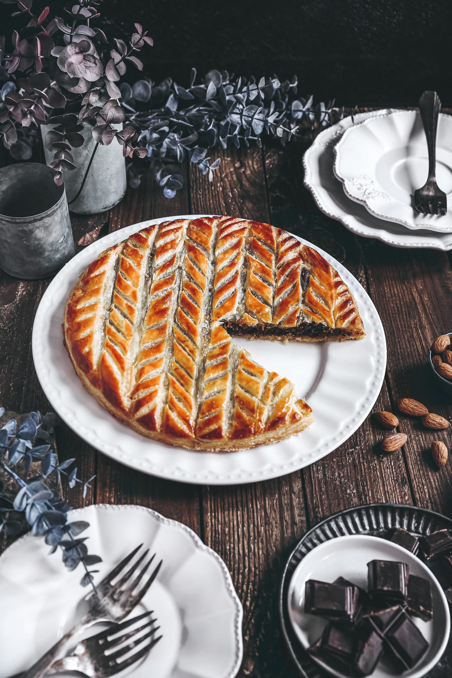 French chocolate galette des rois