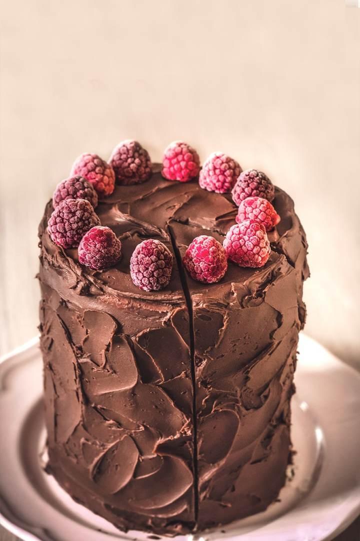 simple dark chocolate ganache