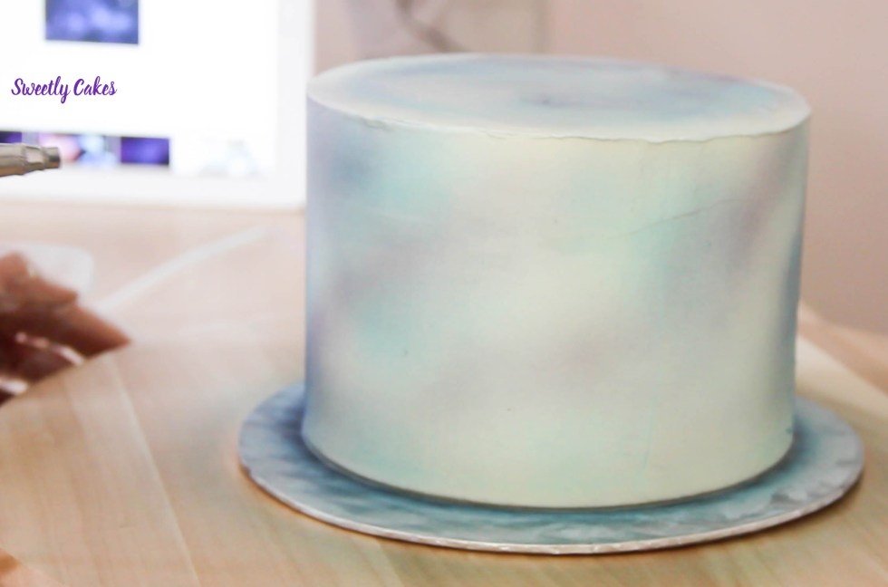 galaxie cake tuto