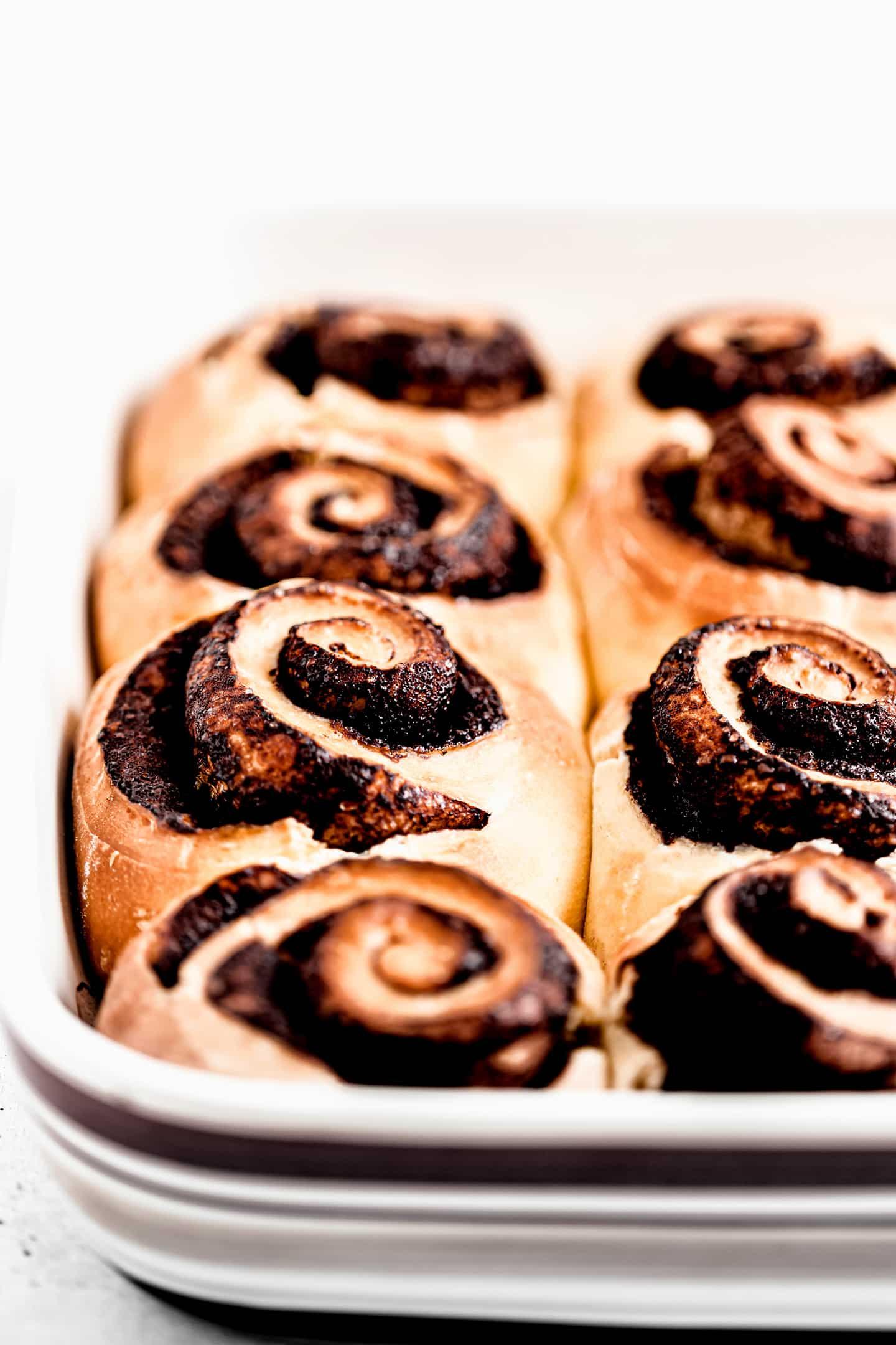 Chocolate rolls buns