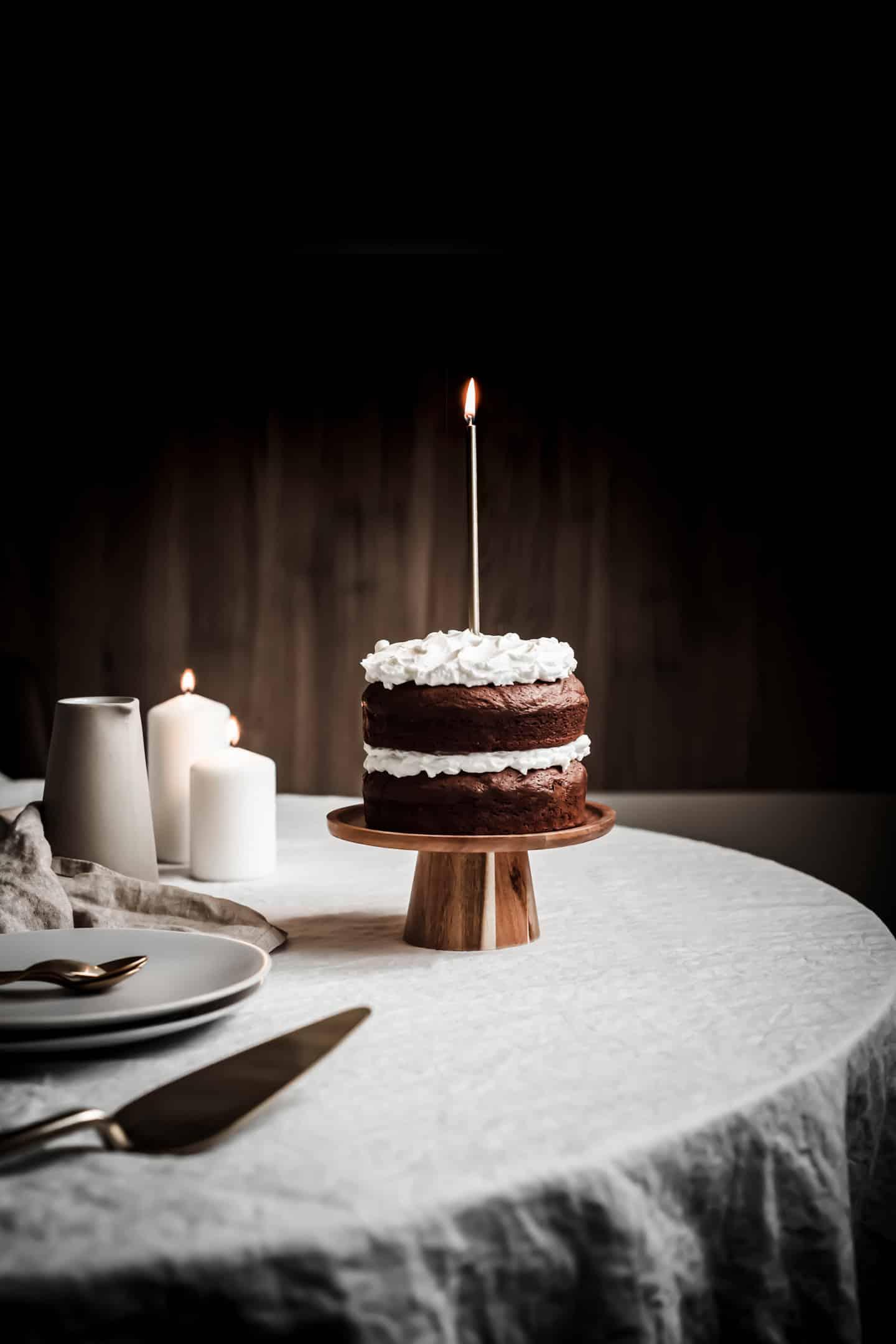 Layer cake chocolat brownie et mascarpone