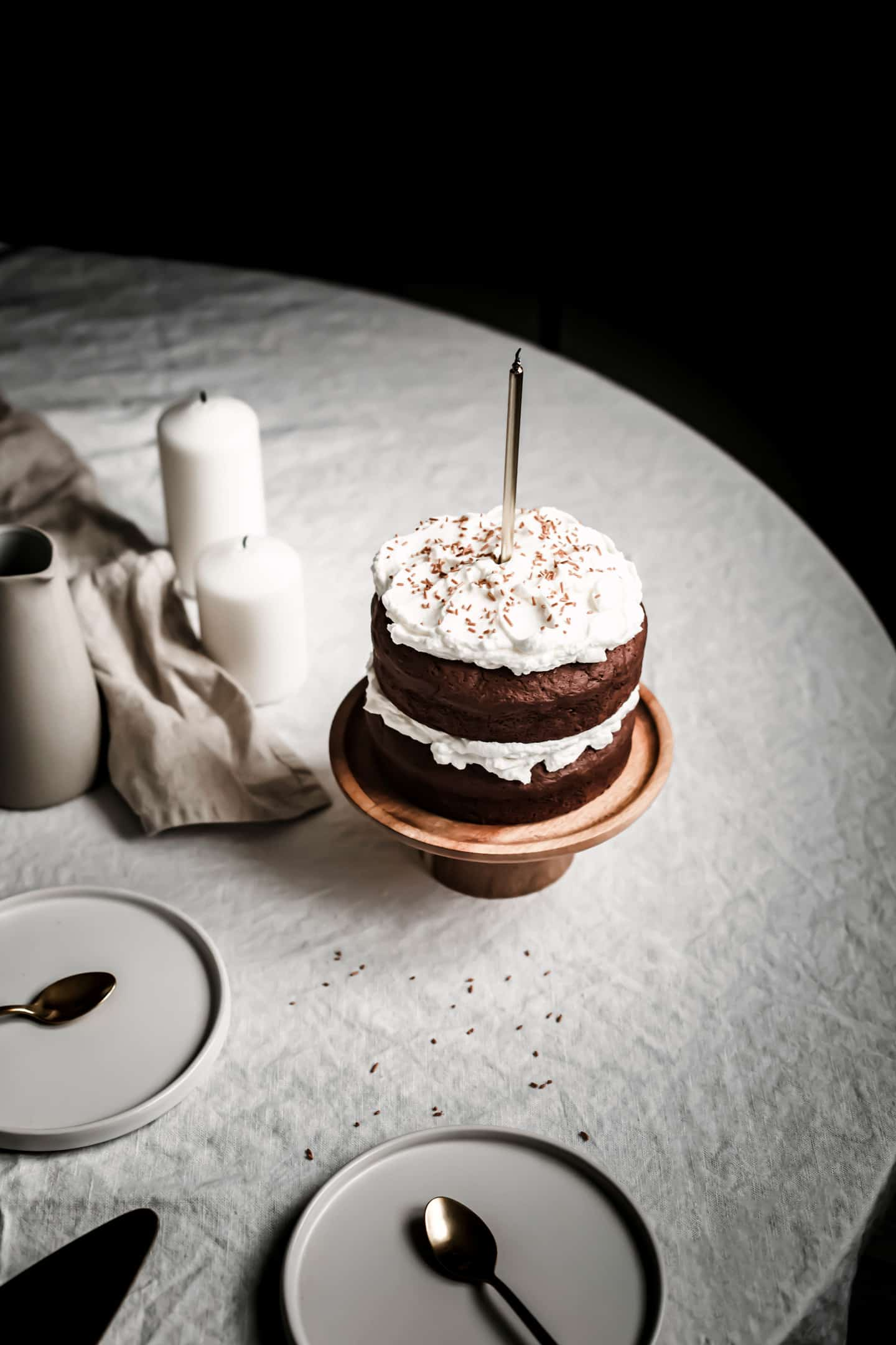 Gâteau layer cake au chocolat
