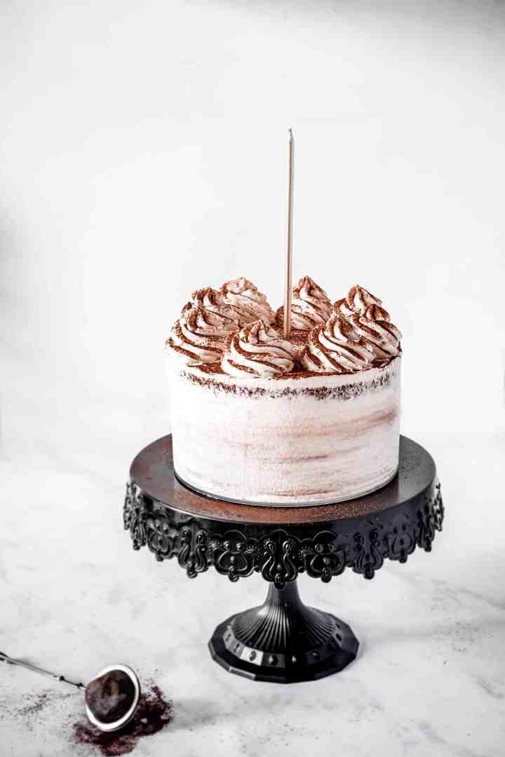 gâteau au chocolat avec ganache montée