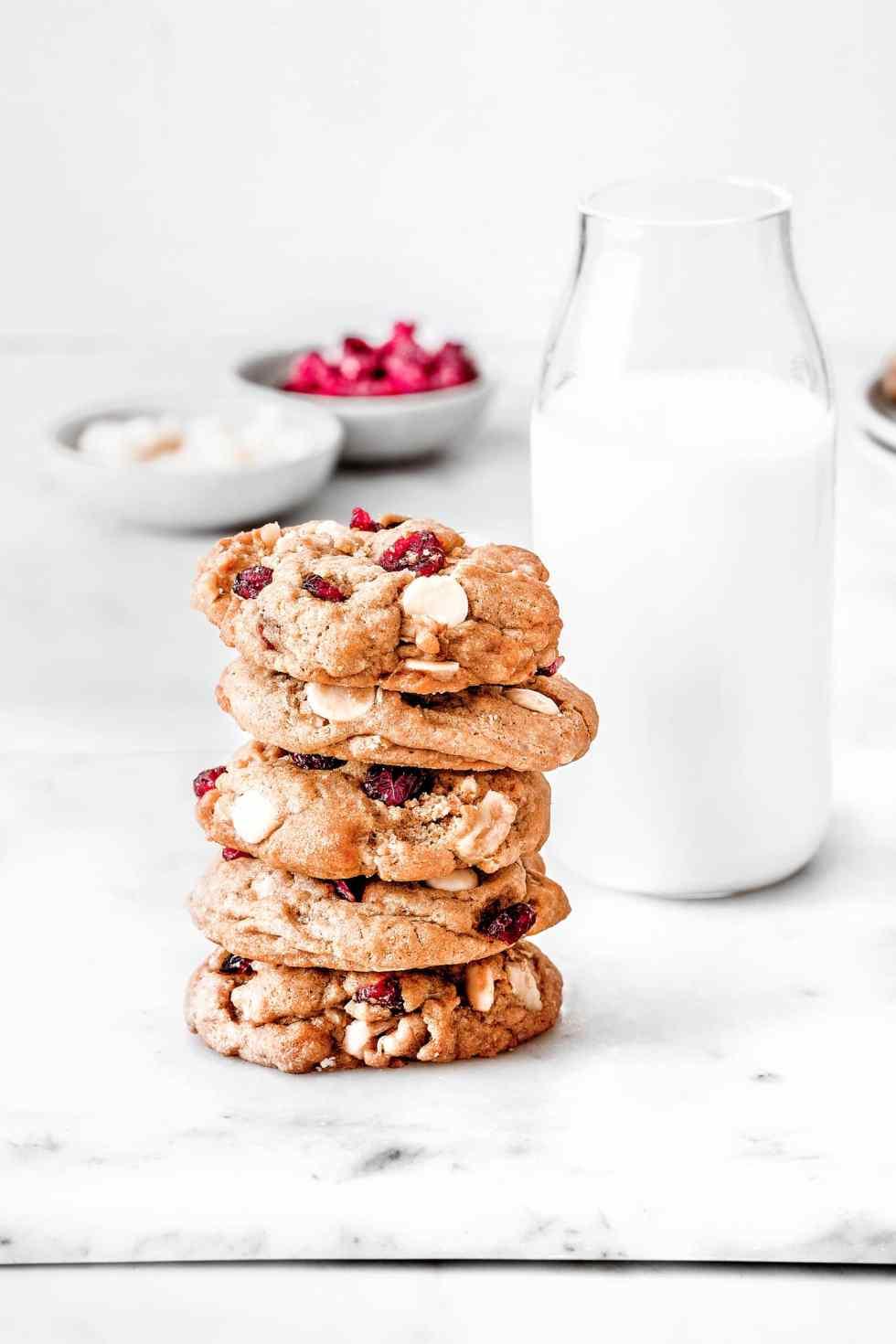 Cookies aux cranberries et chocolat blanc