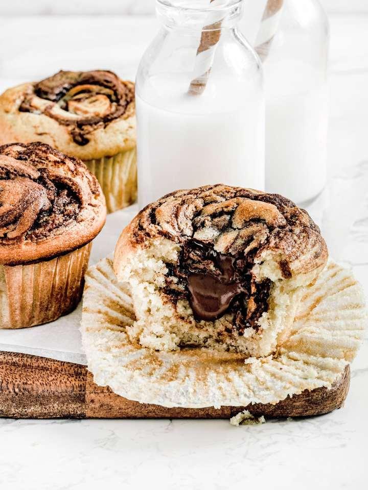 Recette des muffins coeur de Nutella