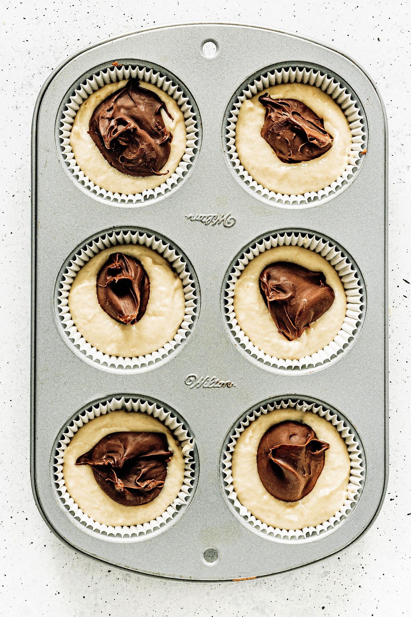 Comment faire des muffins avec un coeur de Nutella