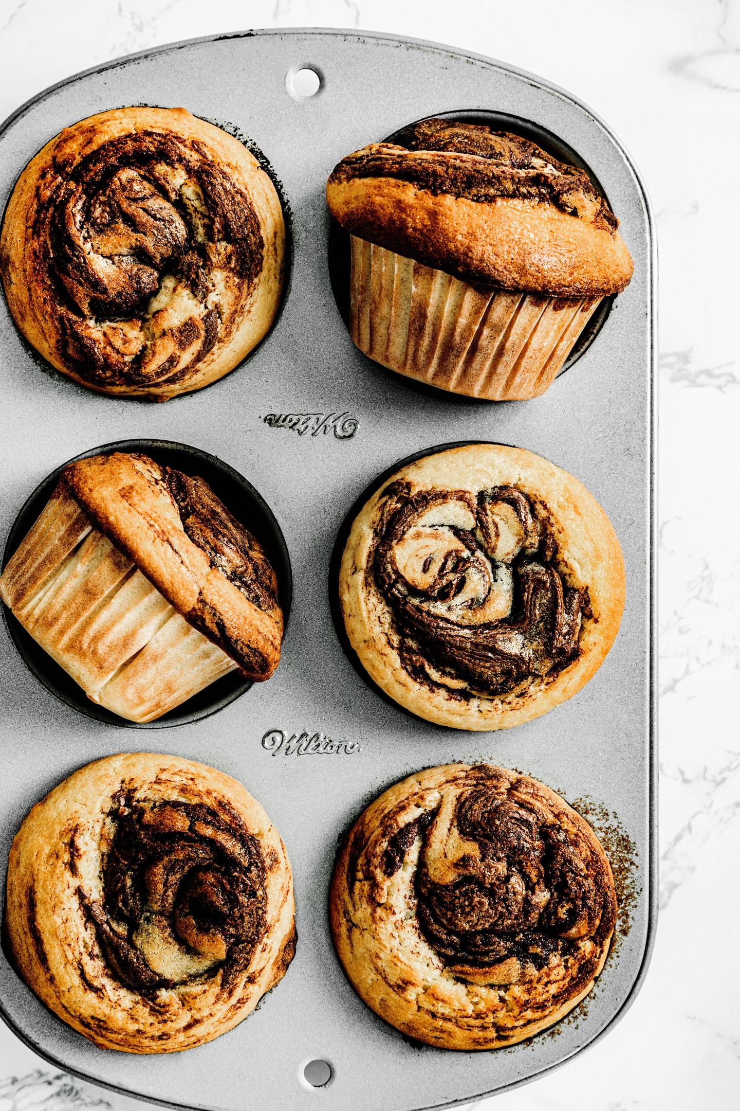 Best nutella muffins swirl recipe