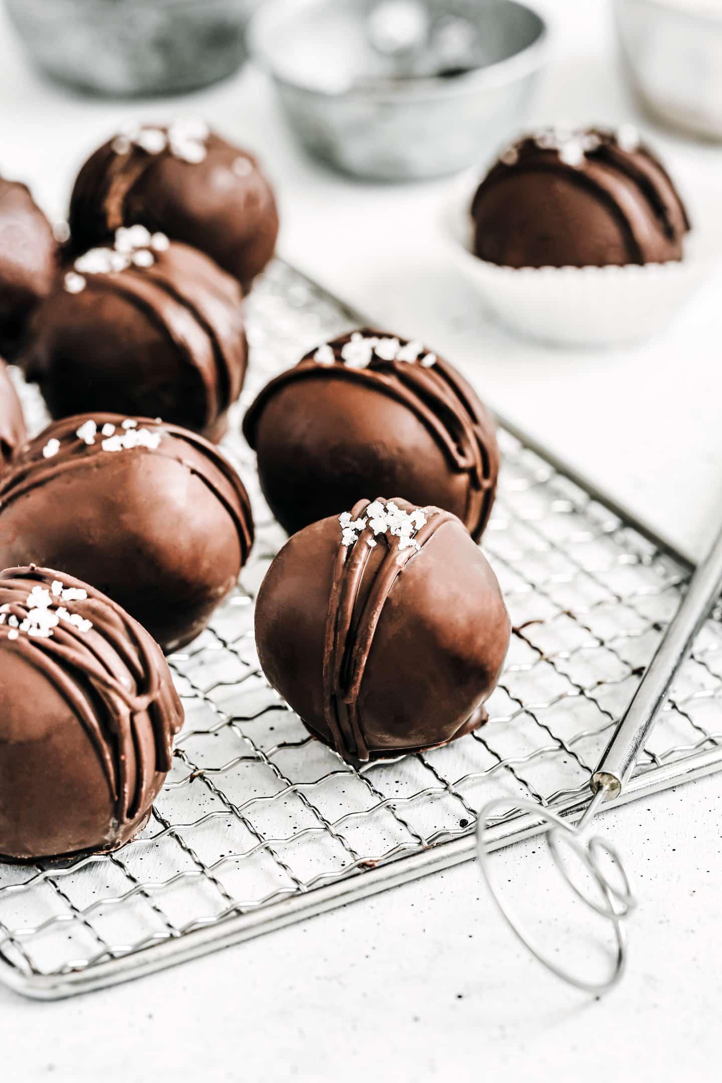 Truffes flocons d'avoine et pépites de chocolat