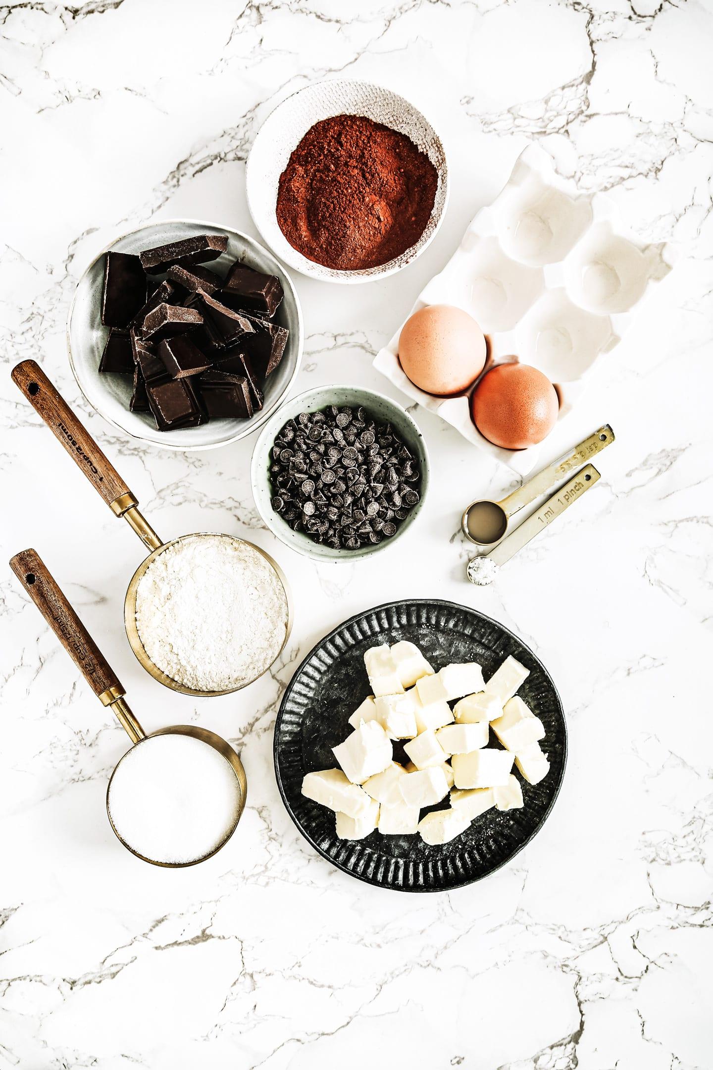 Ingredient to make a brownies