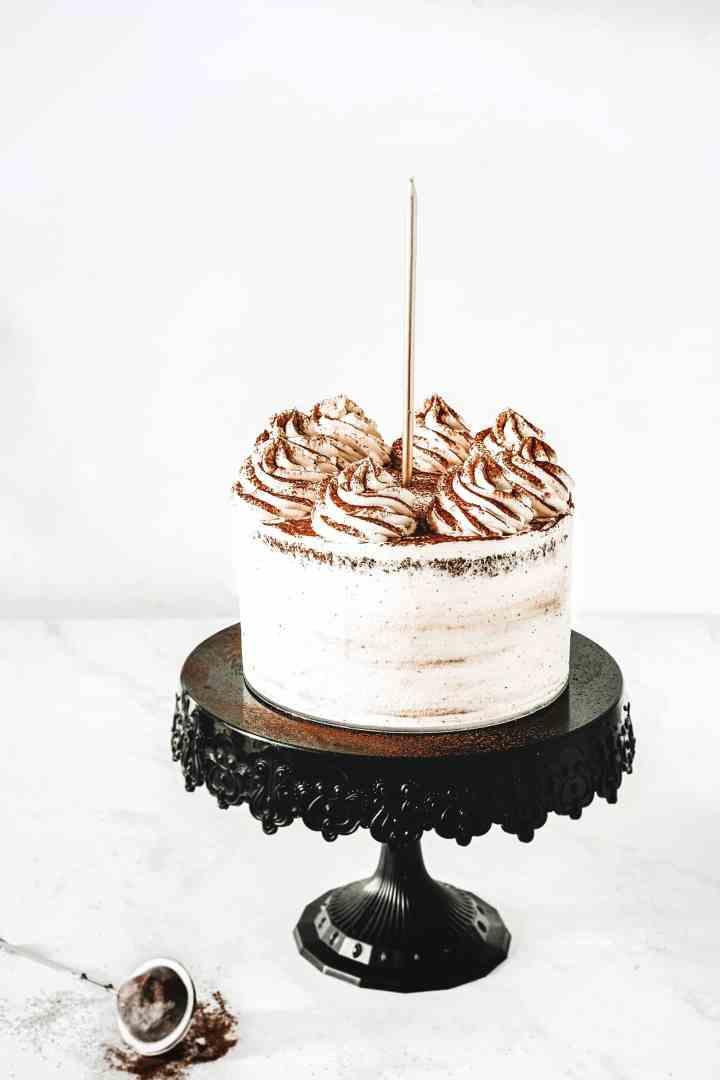 Best chocolate layer cake recipe with vanilla ganache
