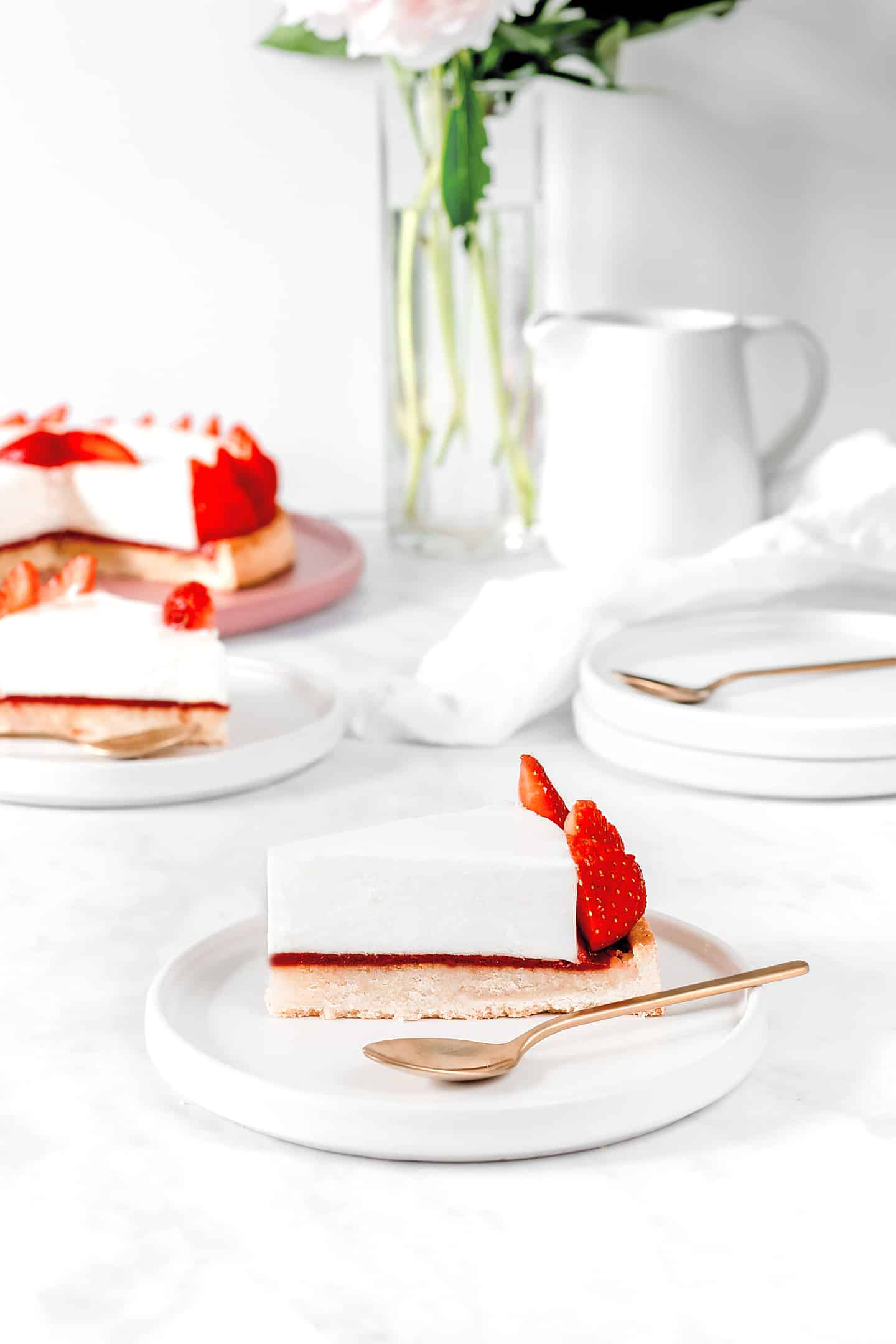 Tarte aux fraises avec cheesecake sans cuisson