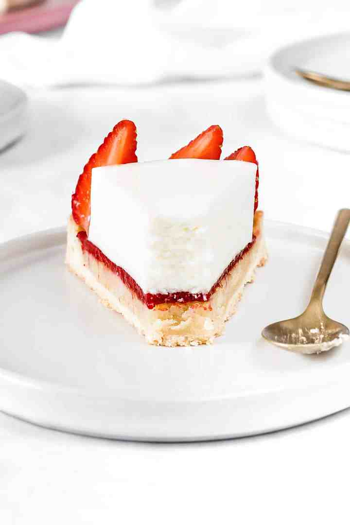 Tarte cheesecake sans cuisson et fraises