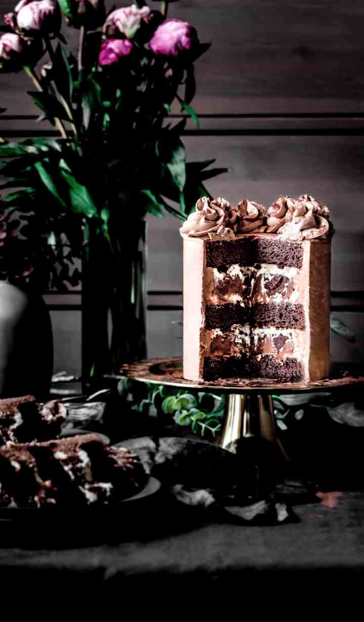 Interieur du layer cake au chocolat