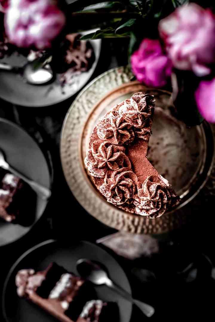 Layer cake gourmand chocolat