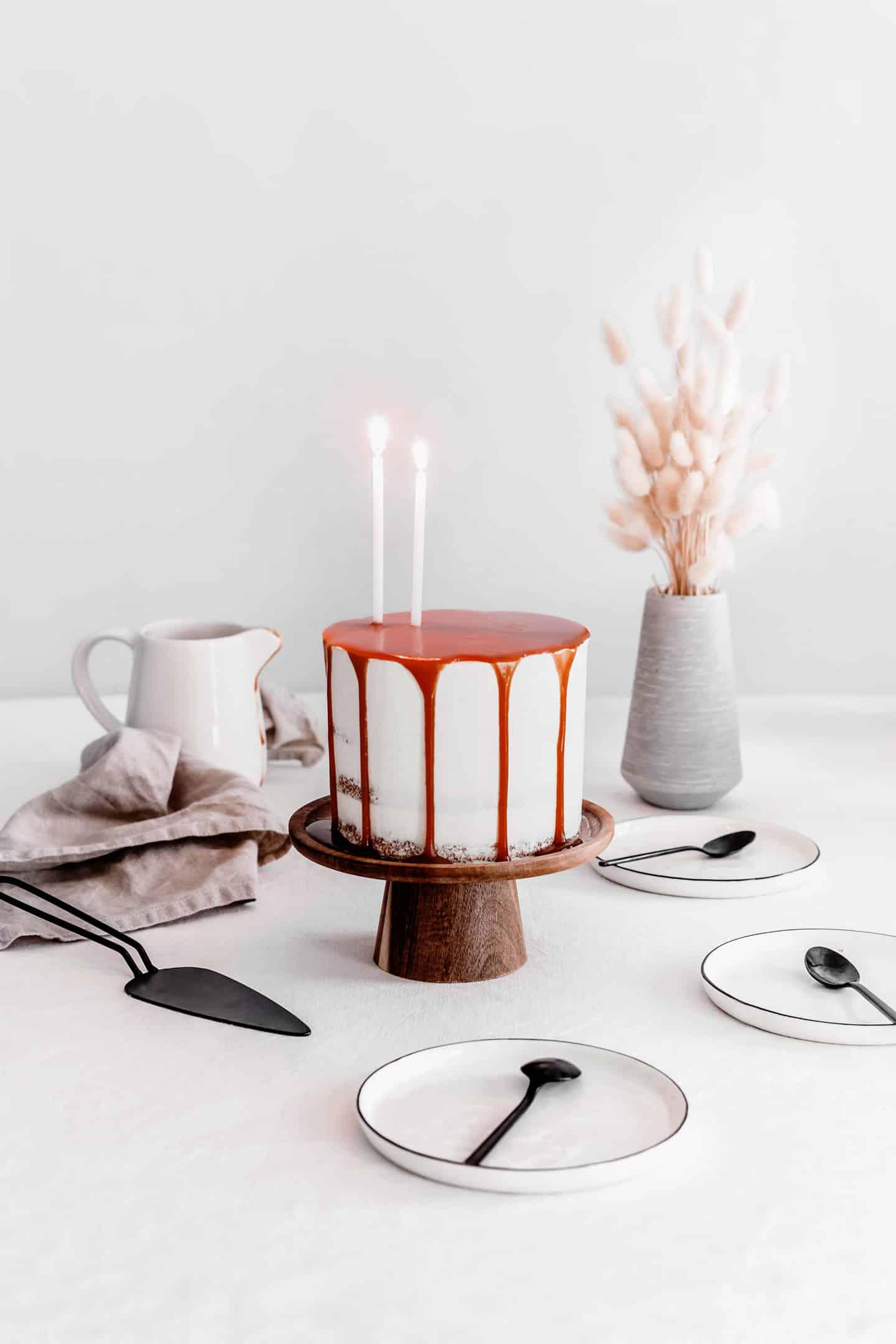 Layer cake au caramel