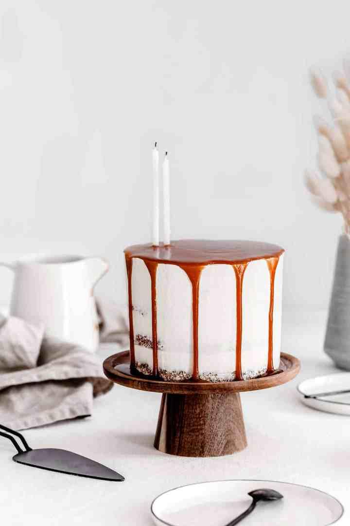 Layer cake caramel au beurre salé