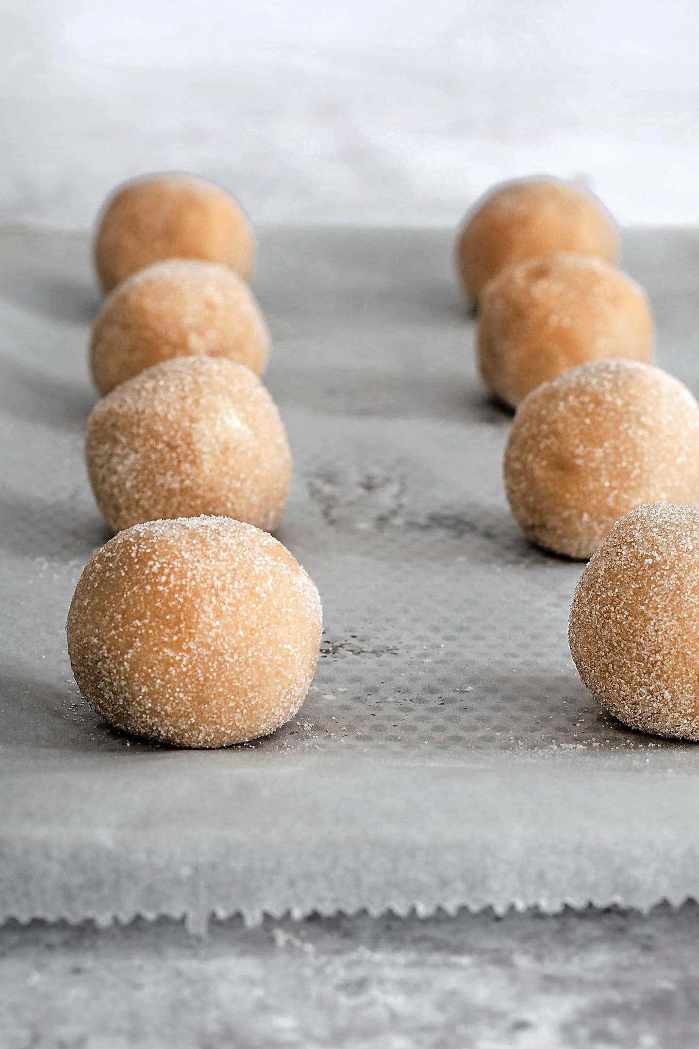 preparation of the snickerdoodle cookies