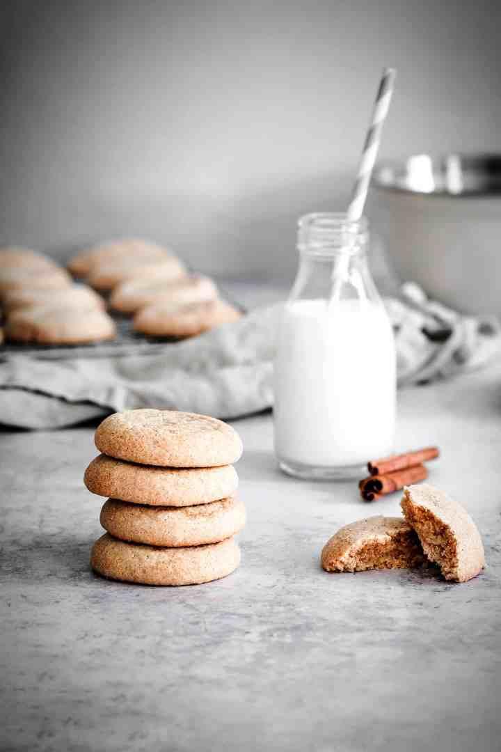 snickerdoodle cookies with cinnamon