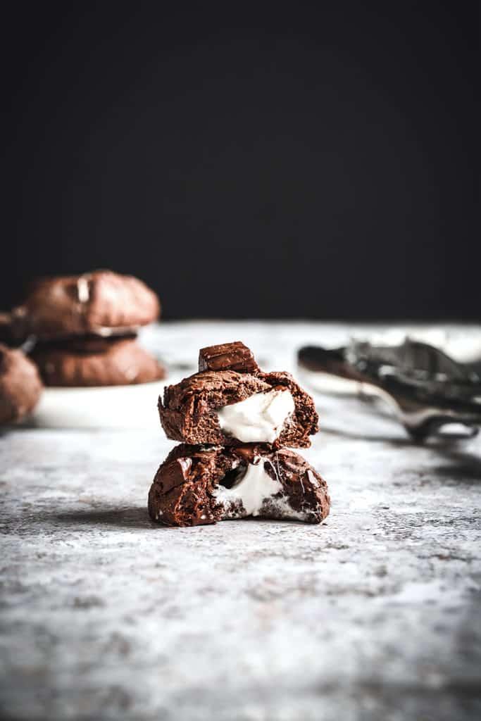 es chocolat et marshmallow