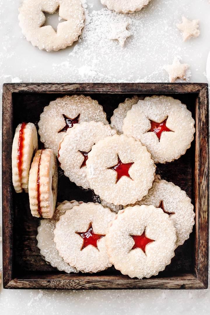 Les biscuits sablés à la confiture