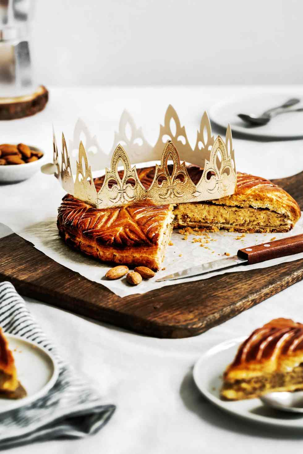 Traditionnal French king cake