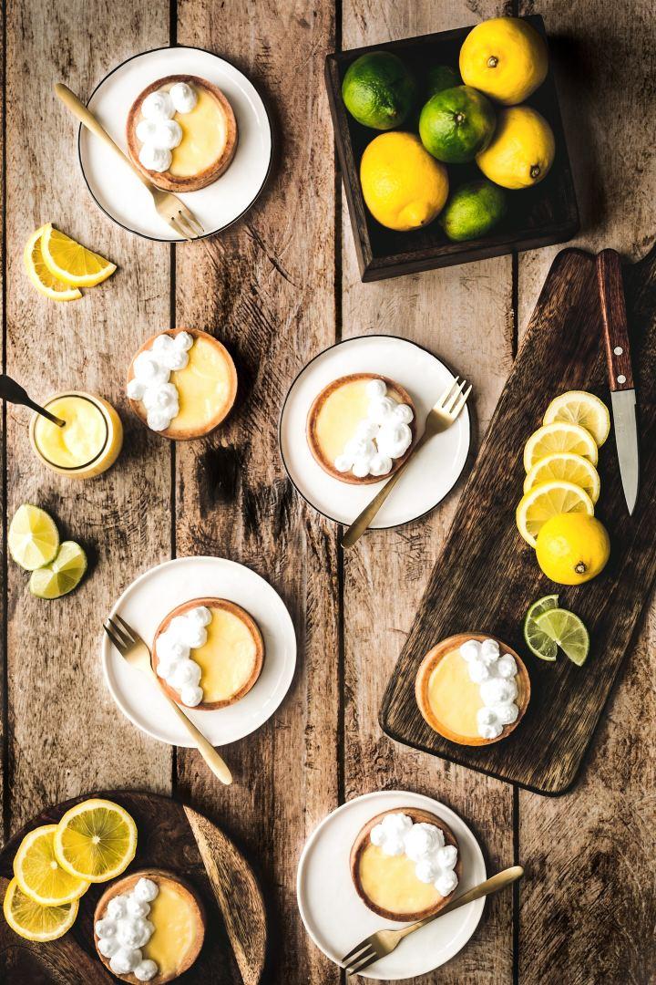 Tartelettes au citron mernguées