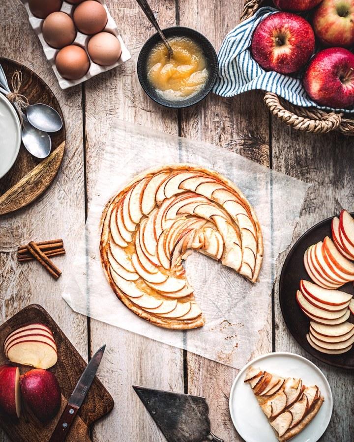 Tarte feuilletée aux pommes