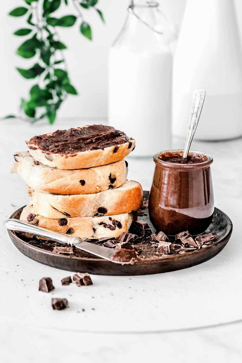 Hazelnut chocolate healthy paste