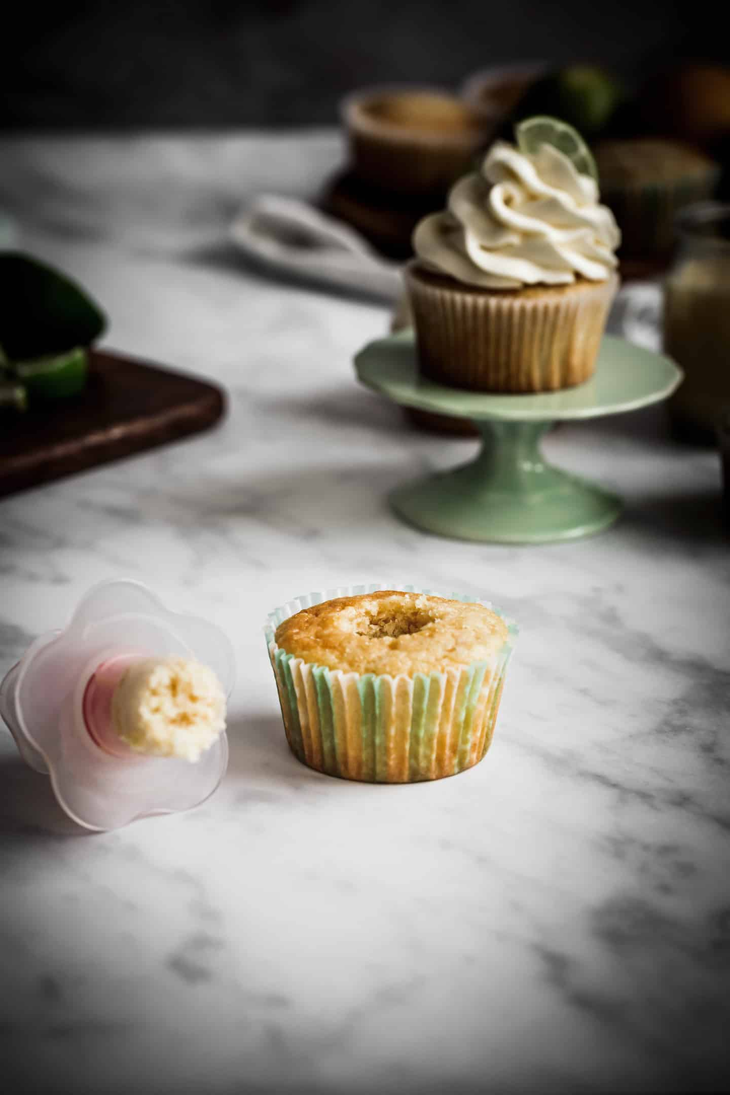 Evider le centre d'un cupcake