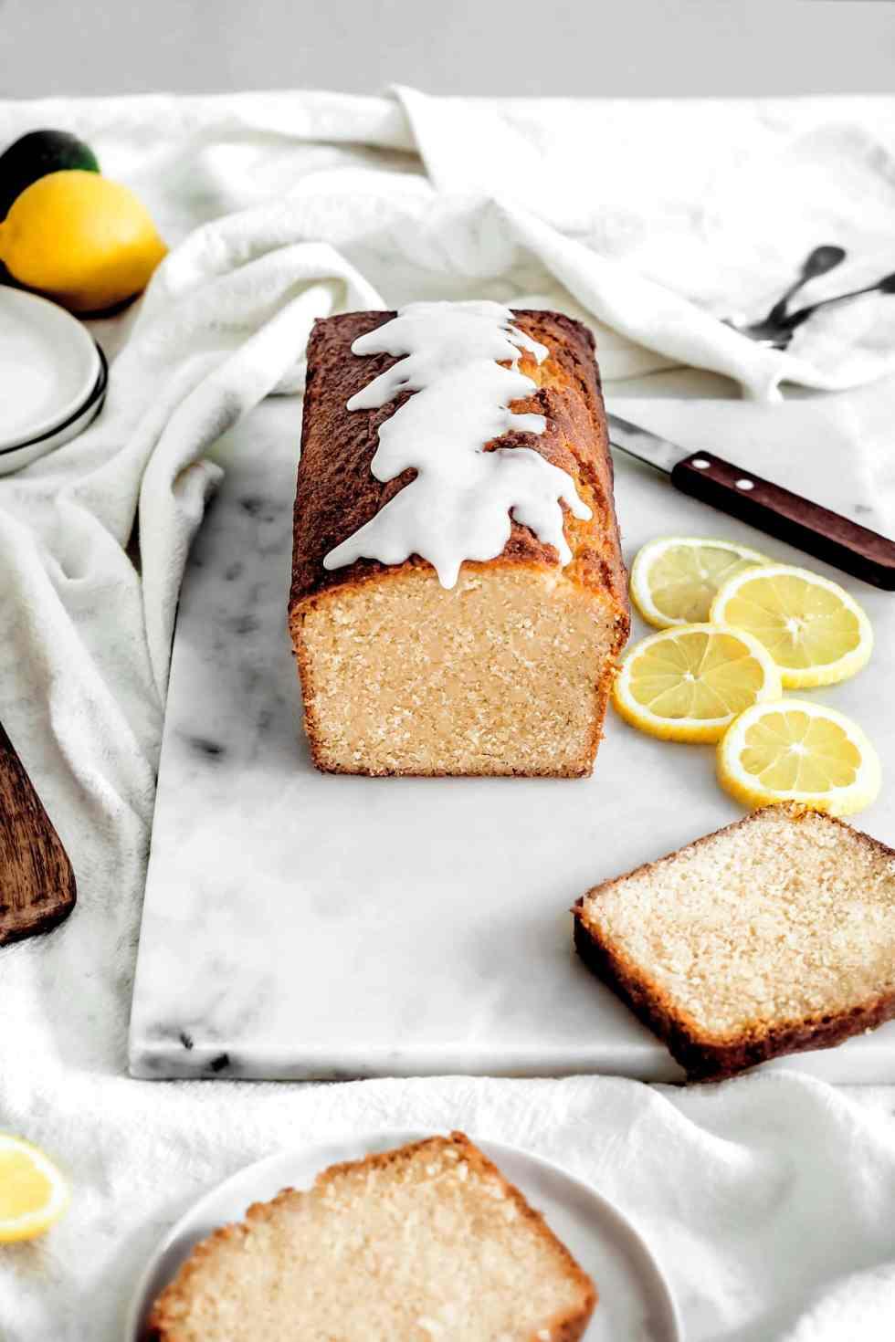 Yellow lemon cake