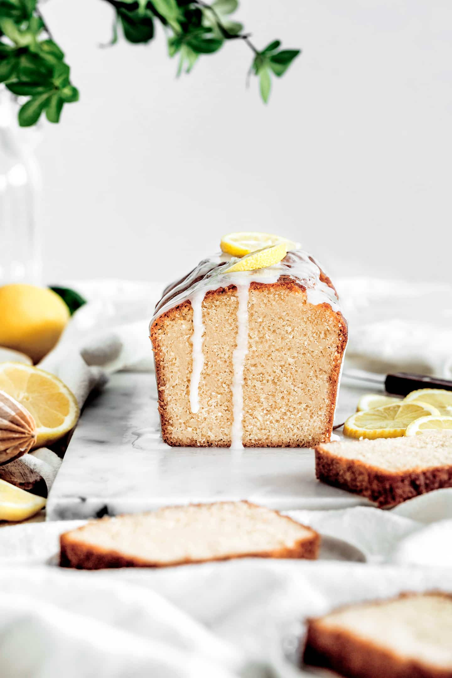 lemon cake and frosting
