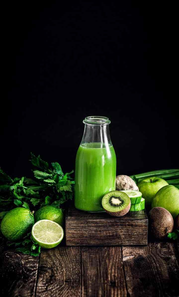Juice of fruits and green vegetables
