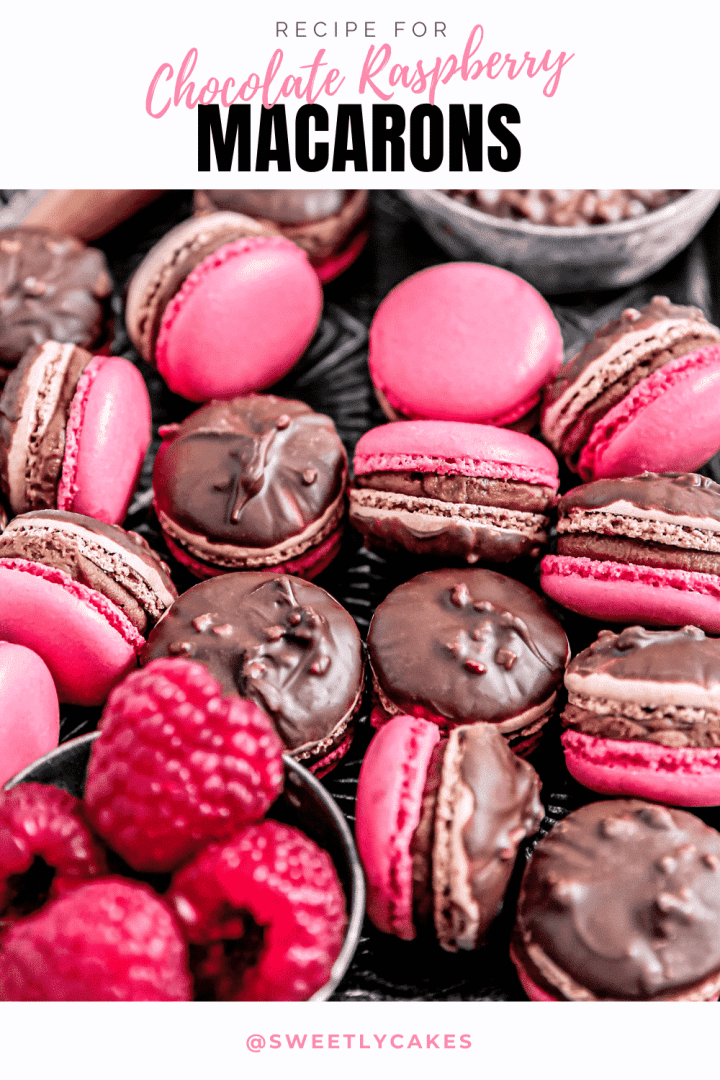 Chocolate raspberry filling macarons recipe