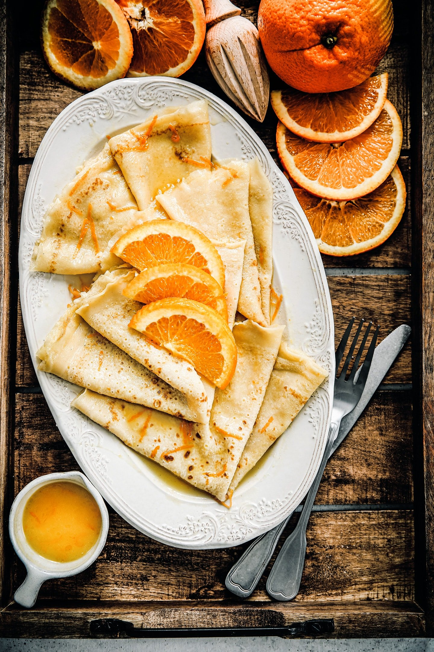 Easy crepes suzette recipe