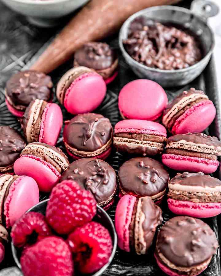 Chocolate raspberry macarons recipe