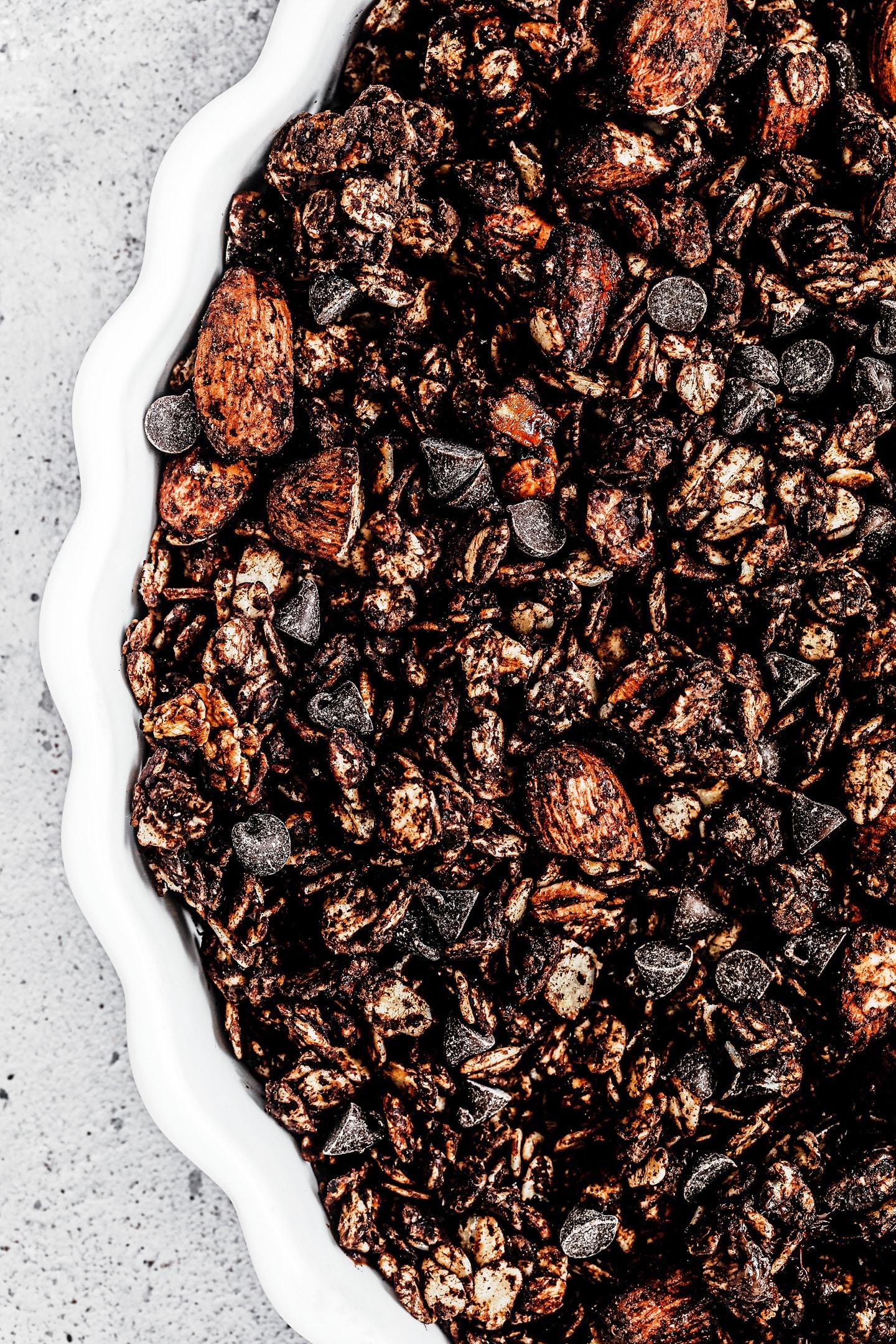 Granola chocolat et pépites de chocolat