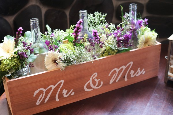 Create Your Own Rustic Wine Centerpieces