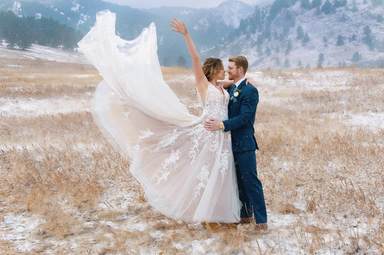 A grand finale of a shot! Love the snowy background for such a dramatic picture