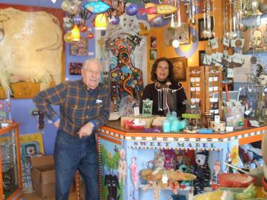 Tracy & her dad, Dan Jr, in the original store