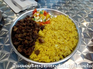Their delicious Beef Shawarma Rice